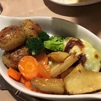 Veg, with meals
