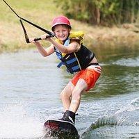 wakeboarding at Windmill Lake