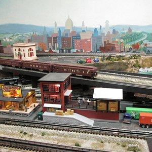 Summer scene train display