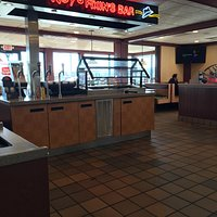 Interior, Roy Rogers showing Fixins Bar and redone Florida room