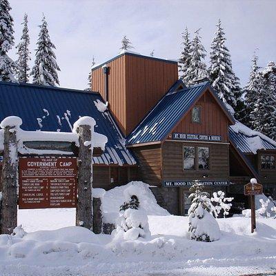 Mt. Hood Cultural Center & Museum in winter