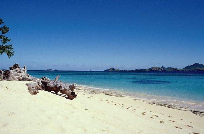 Una spiaggia dell'isola
