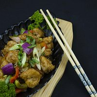 Sizling Prawns with mixed vegetables
