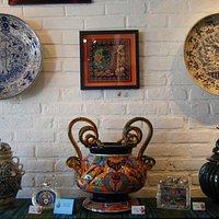 Ceramics display at the gallery