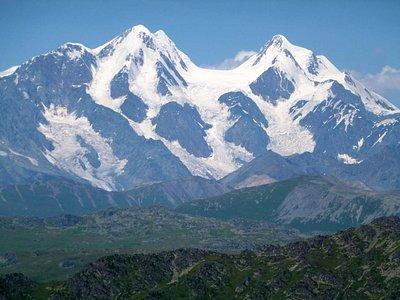 Die Belukha-Gipfel aus kazakischer Sicht