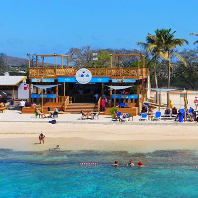 View of Coco Beach Bonaire from the sea