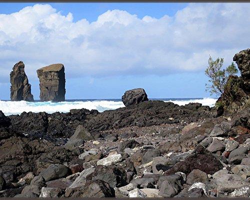 A coastal shore of many textures