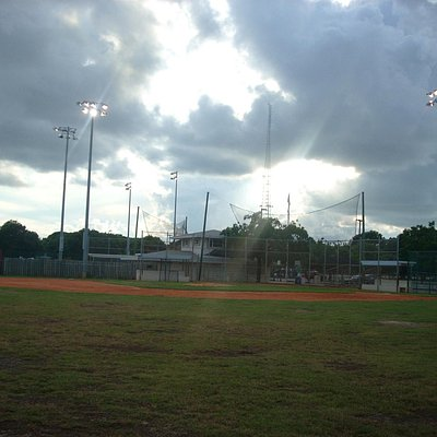 Baseball Field & Rain Clouds