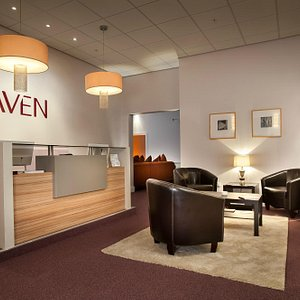 The reception at The Haven Spa Exeter