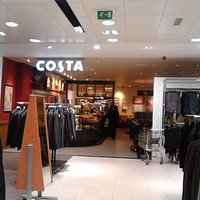Entrance:Looking from Next to Costa's interior.  Wide angle photo of cafe to be posted soon