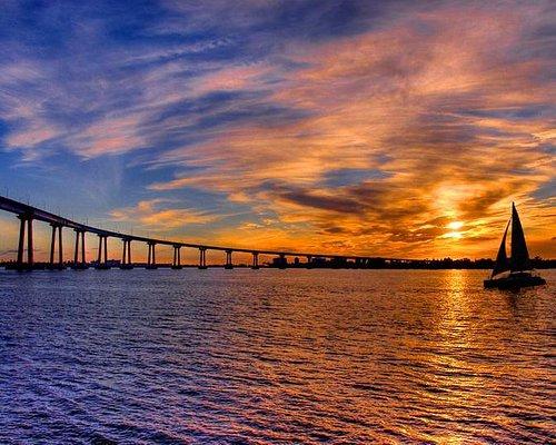 San Diego Coronado Bridge At Sunset