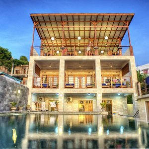 The Blue Marlin Komodo resort, complete with training pool.