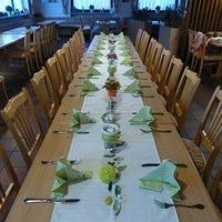 Gedeckter Tisch!