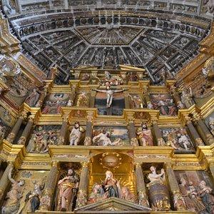 Prespectiva del retablo del altar