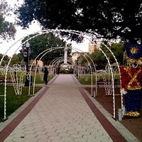 The park is guarded by magnificent toy soldiers!