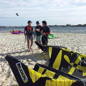 kitesurf lesson river