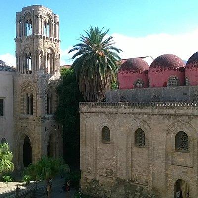 chiesa di san cataldo e campanile chiesa della martorana