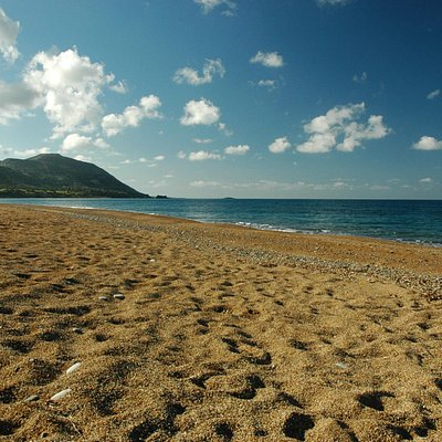 Asprokremnos Beach, looking west to Akamas
