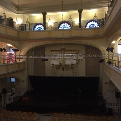 The Main Synagogue set up for a c oncert to raise money