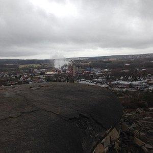 utsikt nedover mot Fredrikstad