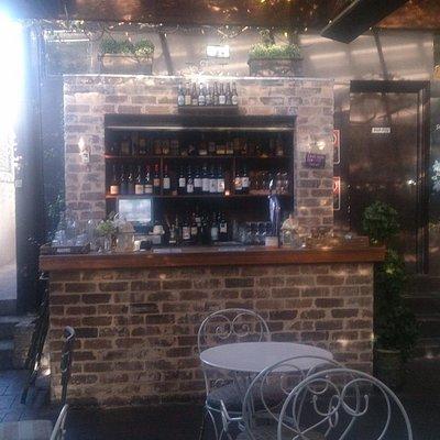 The bar in the beer garden