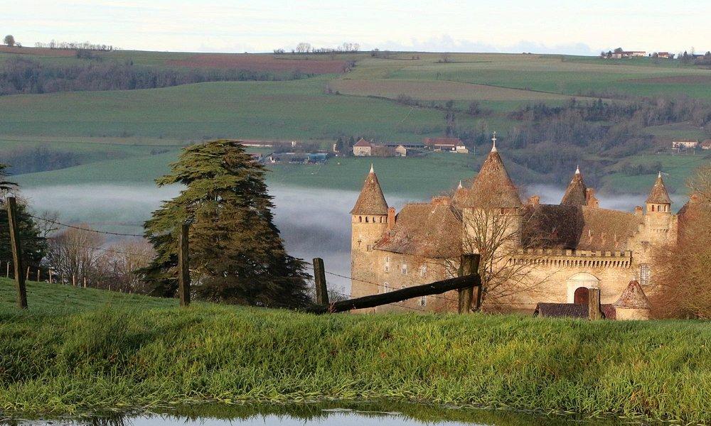 le château et son cadre bucolique