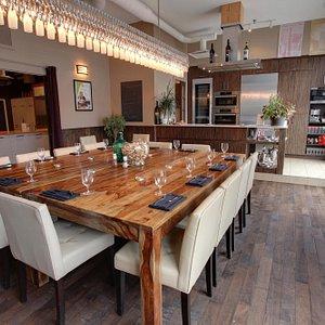 La belle et lumineuse salle à manger