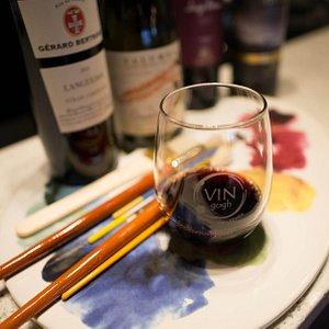 wine + paint = creativity