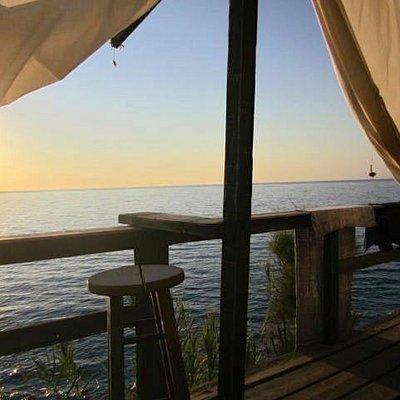 Vista dalla taverna della spiaggia