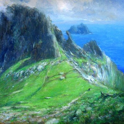 Christs saddle Skellig Michael by Paul Kelly