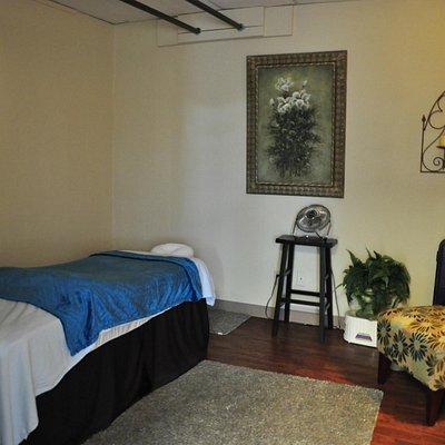 One of three massage rooms