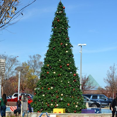 Christmas Tree in Atlanta and needless to say, no snow