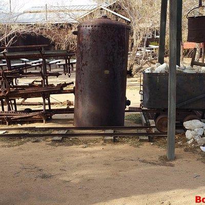 rusting mine equipment outside