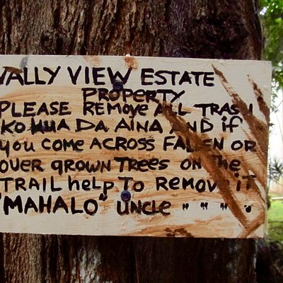 Sign at the bottom