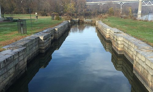 View of canal and granite walls.