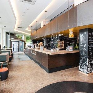 Cafe at the Generator Hostel Hamburg