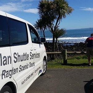 Raglan Shuttle Service to Manu Bay