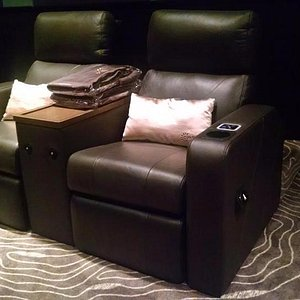 The leather seats at Cinemaxx Gold