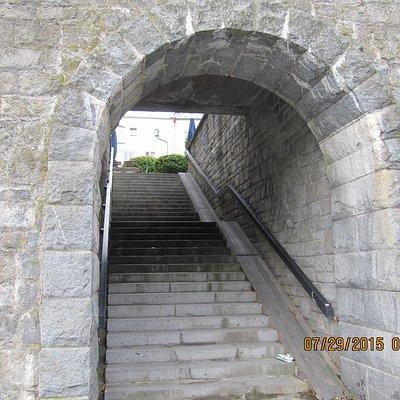 Walkway in town