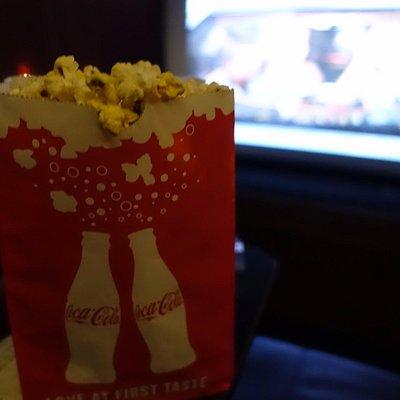 Free popcorn!  Nice.