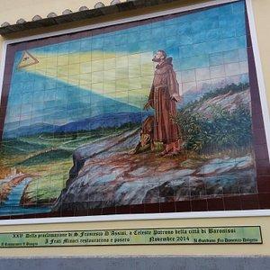 Mosaico in ceramica di San Francesco