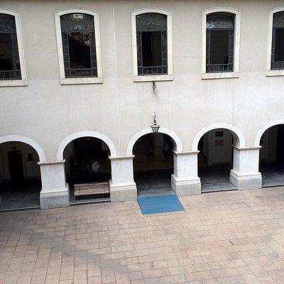 Patio interno da Facultade de Direito do Lgo S Francisco