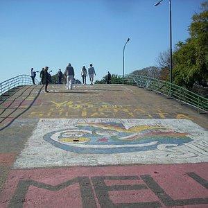 Parte superior del puente