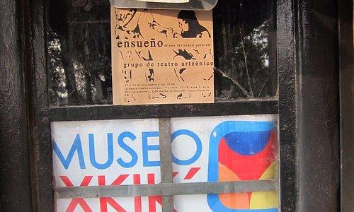 Door to the museum with contact no. (Dec. 2014)