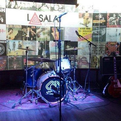 La Sala preparada para el concierto