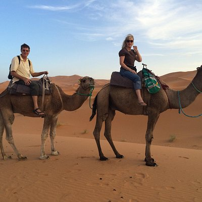 Fun camel ride to see sunset.  Mohammed chose an excellent camel driver for us.