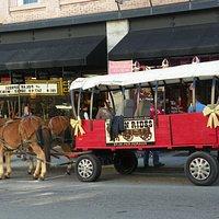 Wagon rides at Christmas