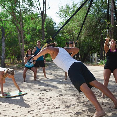 More beach boot camp action