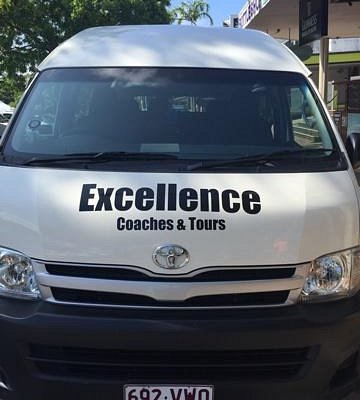 Excellence Coaches & Tours front of bus