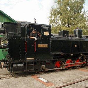 Dampflokomotive Kh 101 am Bahnhof Birkfeld